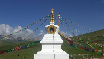The Reconciliation Stupa will be similar to this one once complete.
