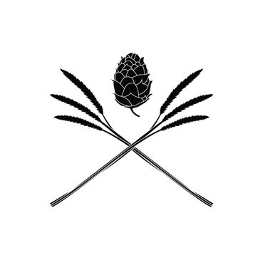 Hops and Wheat Logo for MI Brewcraft, designed by Valentine Visual Design