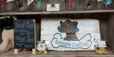 Vendor in store - Doggie Delites - dog treats locally made