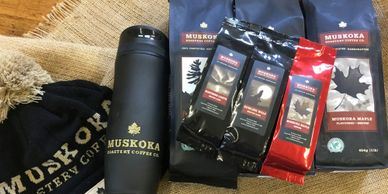 Vendor in store Muskoka Coffee Roastery Huntsville Ontario Canada