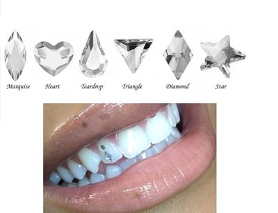 Cubic Zirconia Tooth Gems