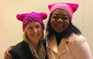 US Senator, Kirsten Gillibrand with CEO of CREW, Sharon I. Nelson