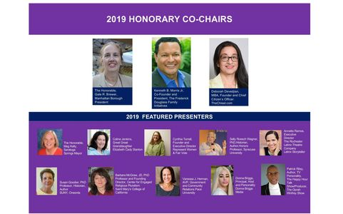 Speakers of the 2019 Seneca Falls Revisited Conference & Retreat