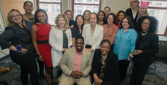 Candidate Training Class graduates at CUNY with the Manhattan Borough President, Gale Brewer