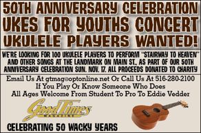 Ukes for youth concert