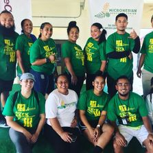 Staff and volunteers at the 3rd Annual One Healthy Micronesia 2k/5k Run, Walk, Stroll