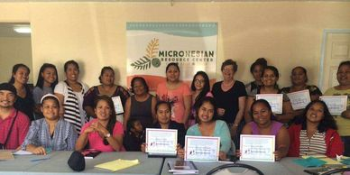 Participants in a class hosted by the Micronesian Resource Center One-Stop Shop