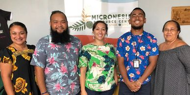 The Mañelu staff at the Micronesian Resource Center One-Stop Shop.