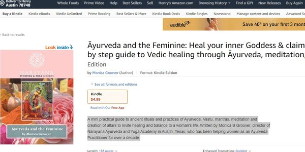 Ayurveda and Feminine: Heal your inner Goddess. Book on Vedic Healing, Ayurveda, Meditation.