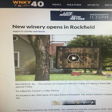 Traveler's Cellar Winery Grand Opening on WNKY
