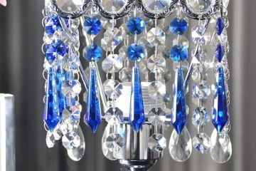 blue hanging crystals for chandeliers or suncatchers