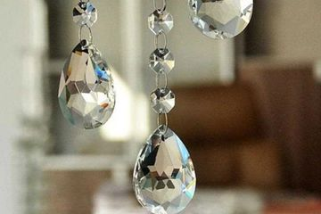 clear replacement crystals for chandeliers