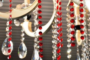 red chandelier replacement crystals for chandeliers
