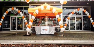 Balloon Arches are perfect for drawing attention to your business or special event.