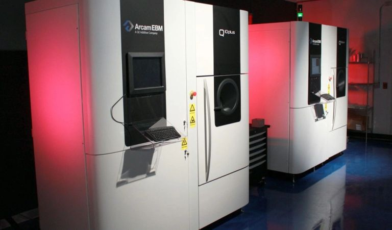 Amplify Additive Arcam EBM Q10plus machines at their Scarborough, Maine facility.