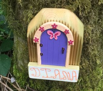 Fun glamping. Enjoy finding all the fairy doors in the Devon woodland