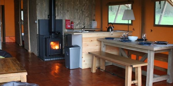 Luxury home comforts in glamping lodge. Devon Glamping. North Devon Glamping