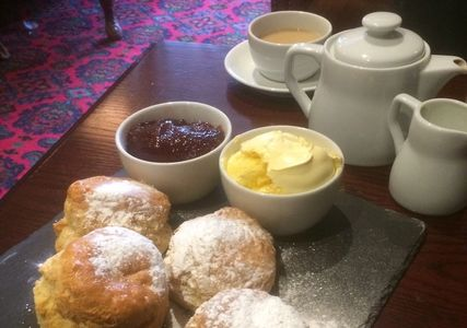 Devon, Two Bridges Hotel, Dartmoor. Awesome Cream Tea