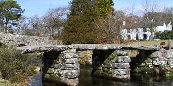 Postbridge Clapper Bridge, Dartmoor, Devon
