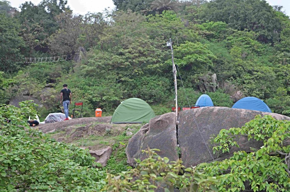 peaceful campsite in the jungle of mount abu with great nature views