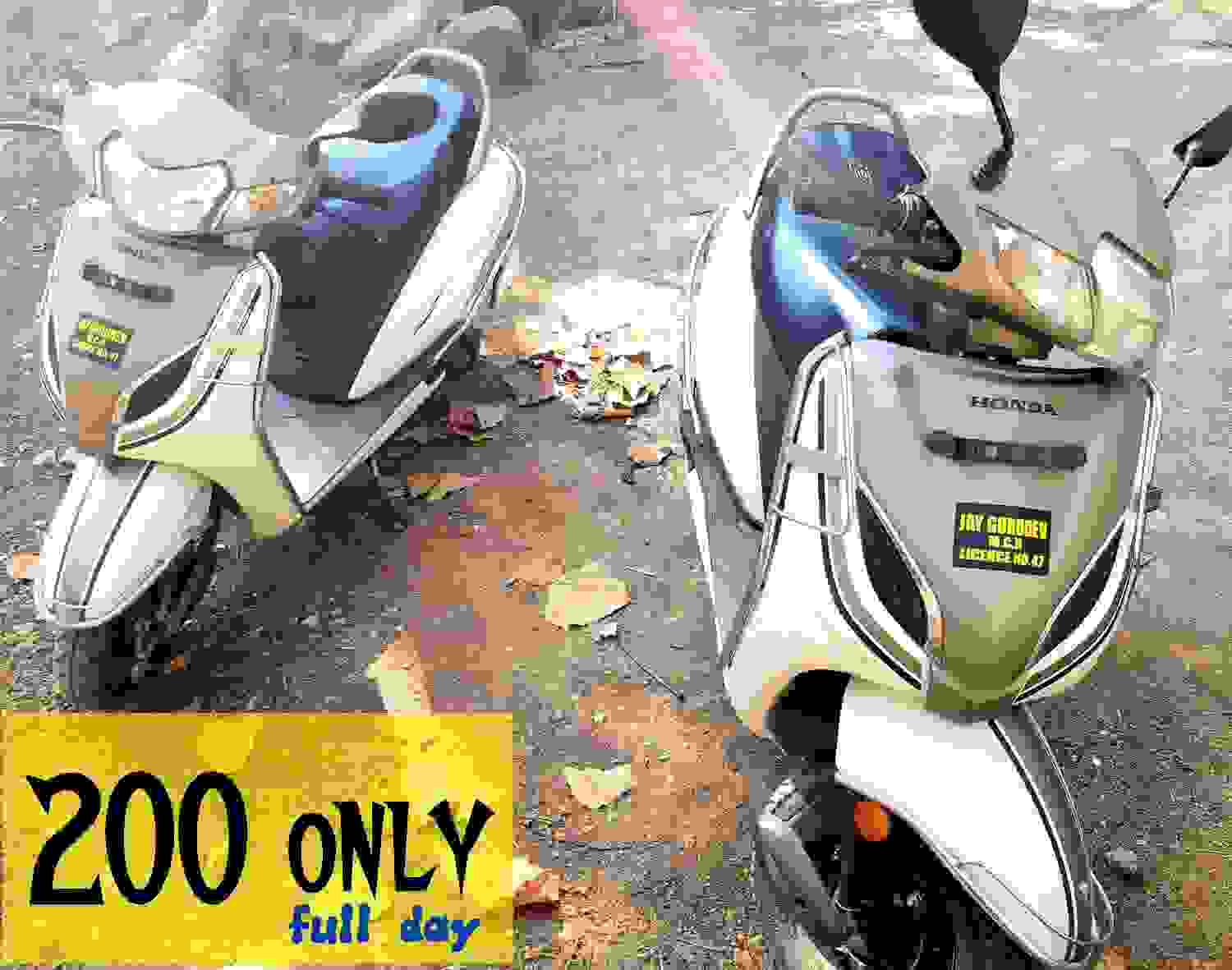 scooter bikes rentals in mount abu. hire activa in mount abu .