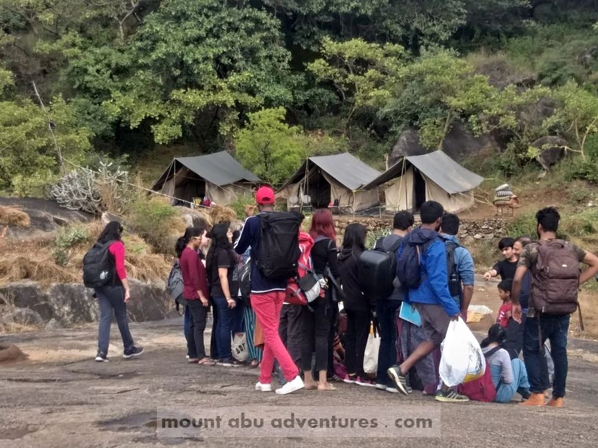 camping trekking adventure in mount abu