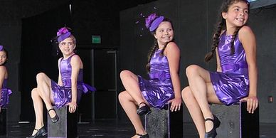 Tap dance purple costumes dance studio Austin Texas