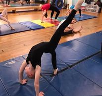 Gymnastics Acro-dance front walk over dance Studio Austin Texas