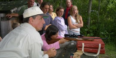 Shooting instruction at Bradford Camps
