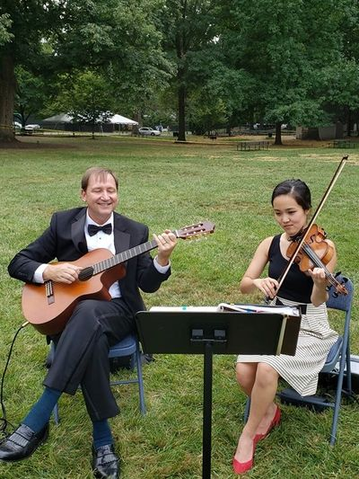 August 2019 Wedding Ceremony Jeffrey Mansion, Bexley, Ohio with Violinist Kanako Shimasaki