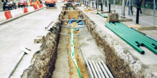 MRPH, Luas, Dublin, Underground Utilities, Cable Installation, Digging, Trench, Roadworks