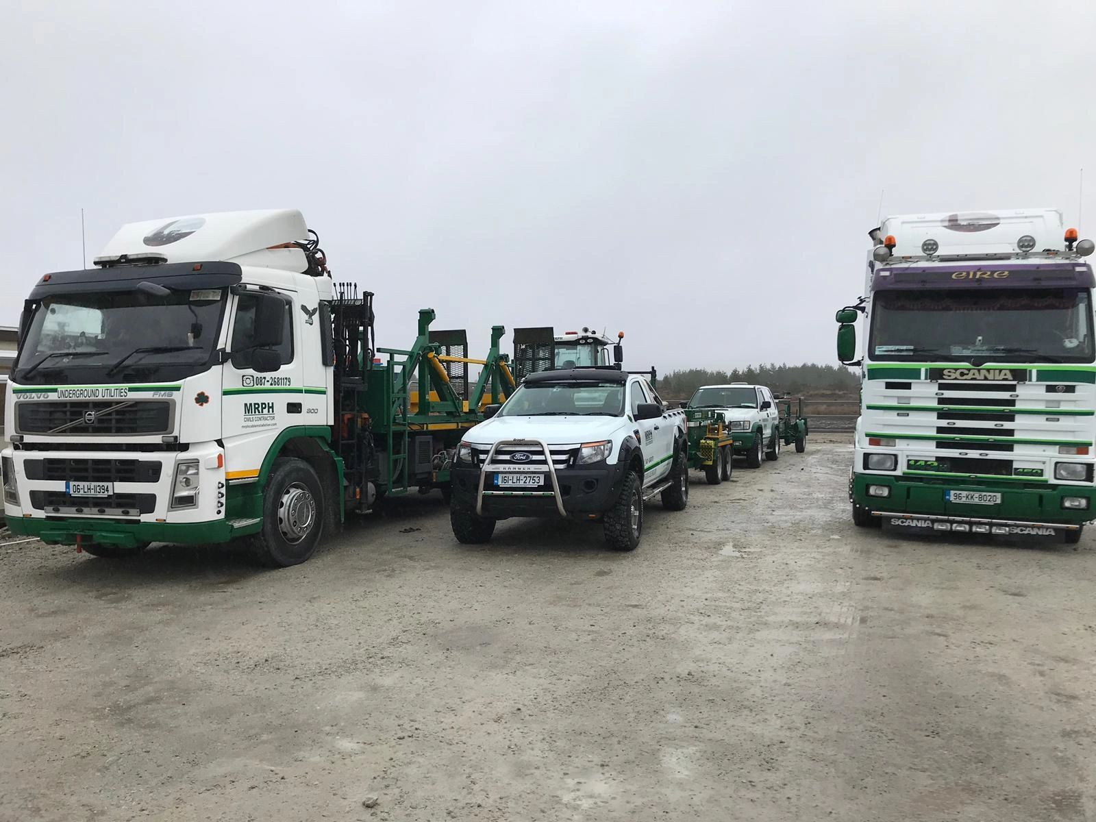 MRPH. Cable Installation. Ireland. Wind Farm. Volvo. JCB. Ford Ranger. Scania. Izuzu Trooper.