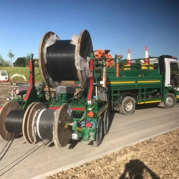 MRPH, Cable Installation, Drum Carrier, Lorry, Underground Utilities