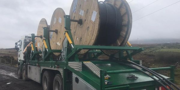 MRPH, cable installation, triple drum carrier, scania, wind farm, renewable energy