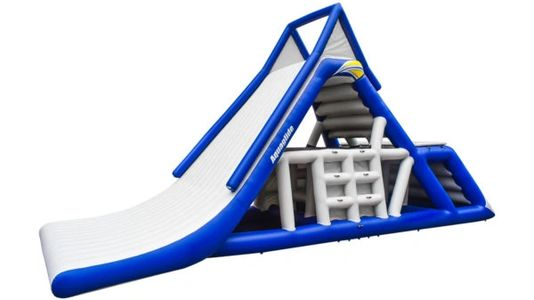Aquaglide Everest climbing wall and sliding structure