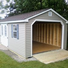 Garage Shed,Cottage,A-Frame,Wood,Vinyl,Storage,