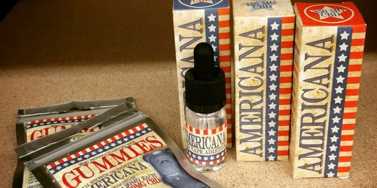 Americana CBD vape additive and CBD gummies