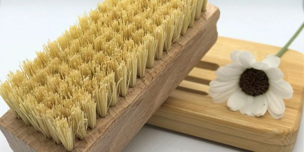 Sisal nail brush. Natural product, plastic free and Bamboo Soap Rack.