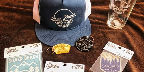 Merchandise from the Silver Beach store.