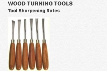 Regular sharpening of your tools. Repair of tools are charged still a different rate.