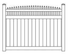 Vinyl Privacy Convex Stake Top Fence Panel
