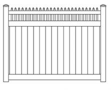 Vinyl Privacy Exposed Stake Top Fence Panel