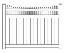 Vinyl Privacy Step Stake Top Fence Panel