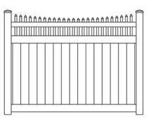 Vinyl Privacy Concave Stake Top Fence Panel