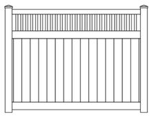 Vinyl Privacy Stake Top Fence Panel