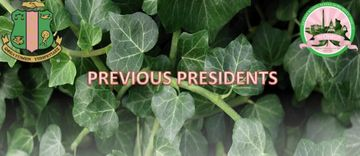 Previous Prez text with ivy backdrop