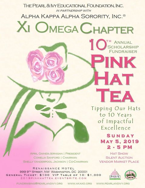 10th Annual Pink Hat Tea Scholarship Fundraiser
