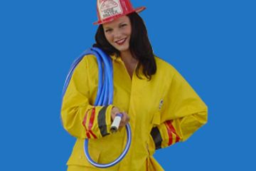 fire fighter singing telegram family entertainer surprise gift unique gift birthday surprise funny