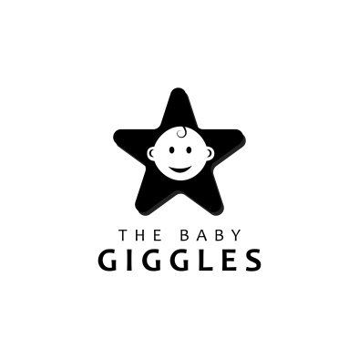 The baby giggles
