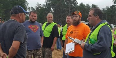 Partcipants asking questions at the Drivers Meeting at the St Helen ORV Jam
